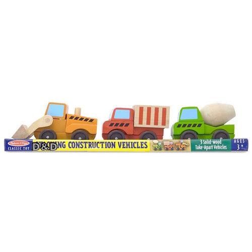 《 美國 Melissa & Doug 》經典玩具系列 - 積木工程車 ╭★ JOYBUS歡樂寶貝