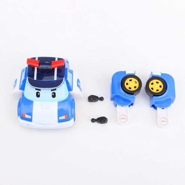珀利警長玩具變形警車救援車消防車套裝波利變形機器人poli玩具