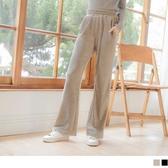 《BA4635》絲絨復刻印象彈性落地寬褲 OrangeBear