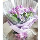 紫色情人鬱金香--情人花束.生日花束.聖誕花束