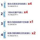 【現貨/免運】元山 YS-8106RWF 淨飲機2年份濾心(共11支.含中空絲膜)