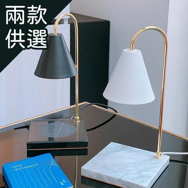 【限宅配】巴洛克大理石香氛蠟燭暖燈 1入 白色/黑色【BG Shop】香氛燈 暖燈 蠟燭燈