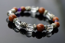 金砂石 & 紫水晶 & 白水晶 & 防古銀配件,生肖雞的守護者。N94