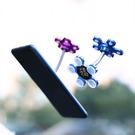 1入 多功能家用 車用 魔力吸盤支架 花朵 360度旋轉彎折 金屬質感 導航 手機配件【SV6871】BO雜貨