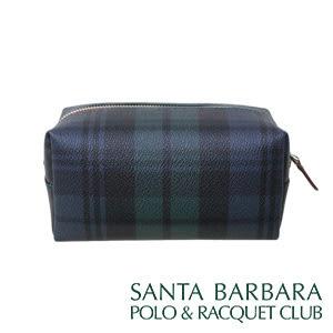 聖大保羅SANTA BARBARA POLO經典綠格萬用化妝包