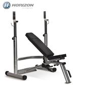 【南紡購物中心】HORIZON Adonis Plus 多功能舉重訓練床Bench+啞鈴訓練架Rack|JOHNSON喬山
