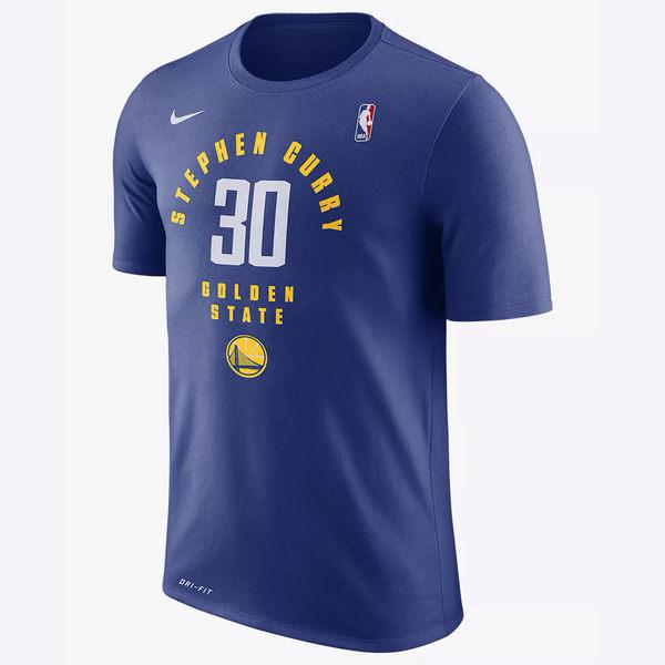 NIKE Dry STEPHEN CURRY 男裝 上衣 短袖 NBA 金洲 勇士 藍 【運動世界】AA2322-495