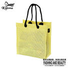手提袋-編織袋(S)-鵝黃白-03C