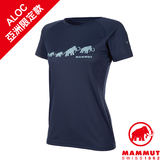 Mammut 長毛象 QD AEGILITY T-Shirt AF Women 彈性排汗透氣短袖 女款 藏青 #1017-10072
