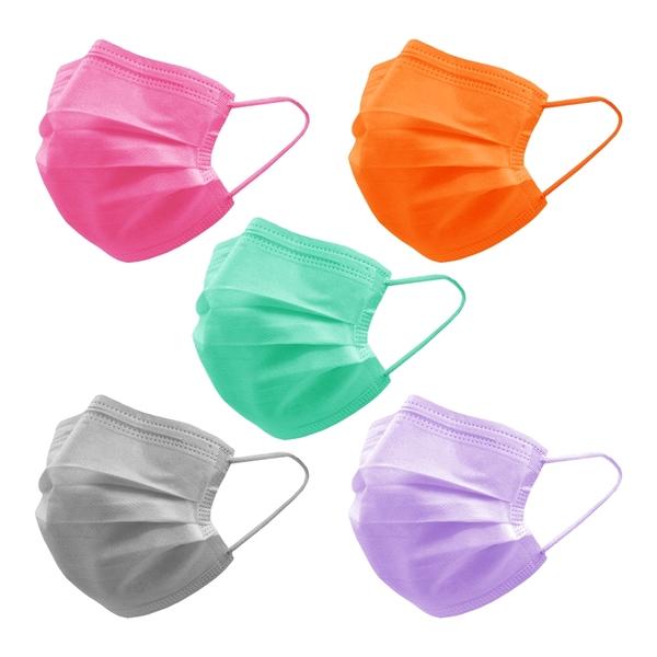 【3期零利率】現貨 RM-A130 一次性防護彩色滿版口罩 50入/包 彩色耳帶款 3層過濾 熔噴布 (非醫療)