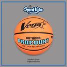 VEGA 進階科技籃球 橡膠發泡 台灣品牌 橘藍 文字 OBR-726【SP】