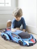 遙控變形車感應變形汽車金剛無線遙控車機器人充電動男孩兒童玩具 酷男精品館