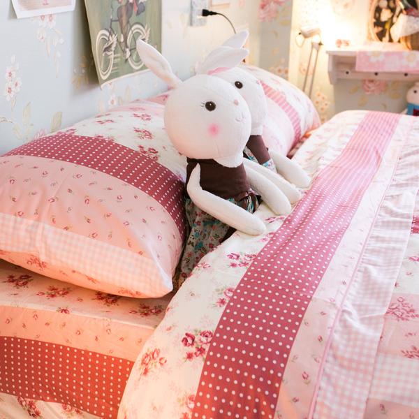 小小碎花鄉村風 S1單人床包二件組 100%精梳棉 台灣製