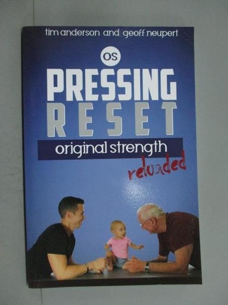 【書寶二手書T6/體育_YEF】Pressing Reset, Original Strength Reloaded_A