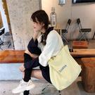 帆布袋 素色 字母 大容量 手提包 帆布袋 單肩包 購物袋--手提/單肩【SP97142】 BOBI  08/29