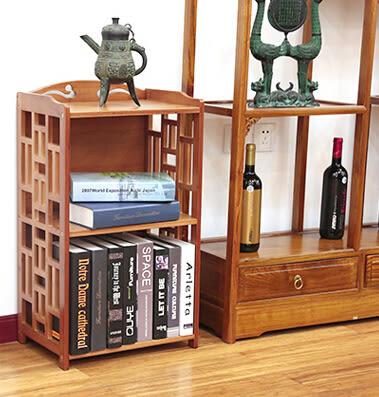 百山九川南竹仿古書櫃 簡易書架 簡約現代自由組合置物架實木櫃子