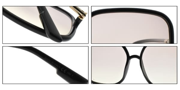 Dior 太陽眼鏡 SO STELLAIRE1 807VC (黑-漸層粉黃鏡片) 時尚大方框造型款 墨鏡 #金橘眼鏡