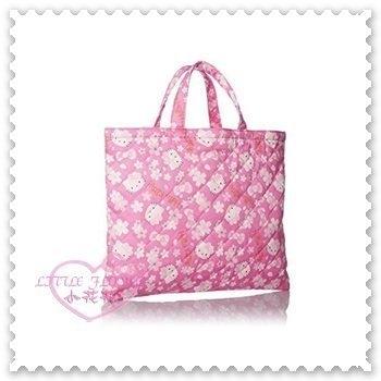 ♥小花花日本精品♥Hello Kitty 被子教訓包 手提包 肩背包 郵務包 10018606