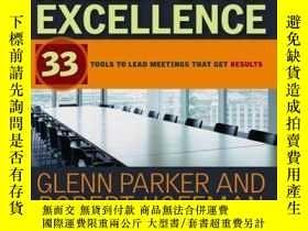 二手書博民逛書店Meeting罕見Excellence: 33 Tools to Lead Meetings That Get R
