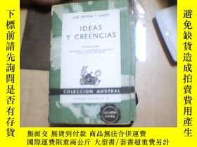 二手書博民逛書店JOSE罕見ORTEGA Y GASSET IDEAS Y CR