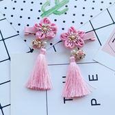 女童復古童裝女寶寶絹花櫻花髪飾