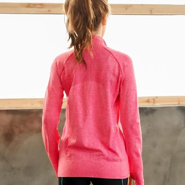 大碼運動速干開衫外套女健身房長袖瑜伽服顯瘦上衣訓練跑步健身服