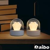 可愛貓爪音樂盒 USB充電式LED小夜燈灰色