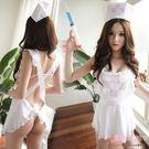護士裝 白色連身裙護士服 角色扮演裸背交叉綁帶白色圍裙- 愛衣朵拉