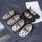 公主鞋 春秋夏一腳蹬小皮鞋女童淺口單鞋兒童軟底公主童鞋寶寶豆豆鞋 【童趣屋】