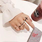 指環套裝 網紅組合套裝戒指女極細食指戒子尾戒個性日韓潮人學生小指裝飾 多款可選