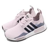 【海外限定】adidas 休閒鞋 NMD_R1 W 紫 藍 白 女鞋 Boost 襪套式設計 運動鞋 【PUMP306】 EE5176