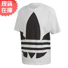 【現貨】ADIDAS ORIGINALS 男裝 短袖 寬版 休閒 純棉 三葉草 大LOGO 白【運動世界】FM9903