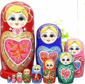 俄羅斯套娃10層進口益智玩具椴木風幹手繪手工品禮物擺件5412   東川崎町