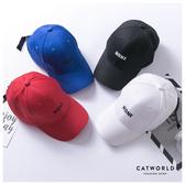 Catworld NONE刺繡文字棒球帽【18003544】‧F