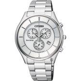 CITIZEN 星辰 光動能新世代計時腕錶-銀/40mm AT2360-59A