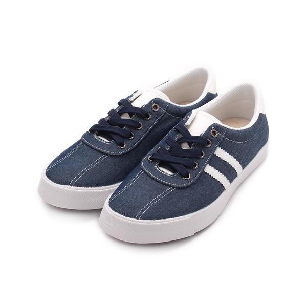 SARTORI 復古布面休閒鞋 藍 男鞋 鞋全家福