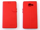 gamax Samsung GALAXY A5(SM-A500YZ) (2016新款) 磁扣荔枝紋側站套手機保護皮套 商務二代