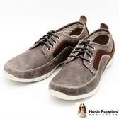Hush Puppies 復古簡約直套式懶人鞋  男款-灰(另有黑)