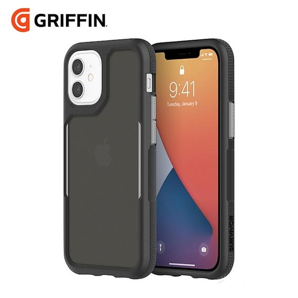 Griffin Survivor Endurance iPhone 12 mini 5.4吋 軍規抗菌霧透防摔殼