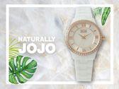 【時間道】NATURALLY JOJO  典雅時尚羅馬刻度陶瓷腕錶 / 銀白面白陶(JO96929-81R)免運費