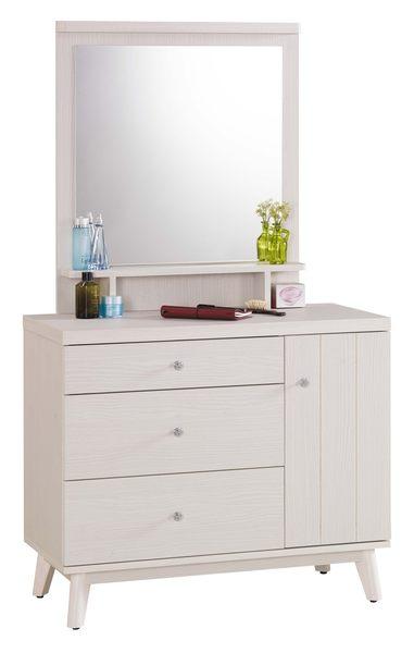 【森可家居】安婕莉鏡台(不含椅) 7JX35-6 梳化妝檯 無印北歐風