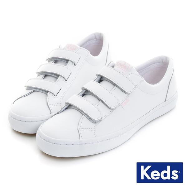 KEDS 時尚運動魔鬼氈皮質休閒鞋 白 181W132543 女鞋 平底│小白鞋