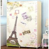 衣櫃 衣柜簡易布衣柜鋼管加粗簡約現代寢室經濟型折疊組裝LB3449【Rose中大尺碼】