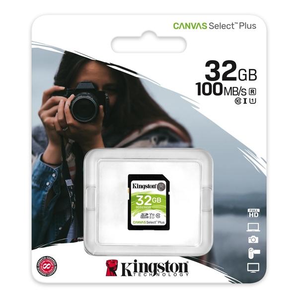 金士頓 KINGSTON 32GB Canvas Select Plus SD 記憶卡 SDS2