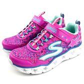 《7+1童鞋》SKECHERS 10920L/NPMT 亮燈 星星 輕量 慢跑 運動鞋 B970 桃色
