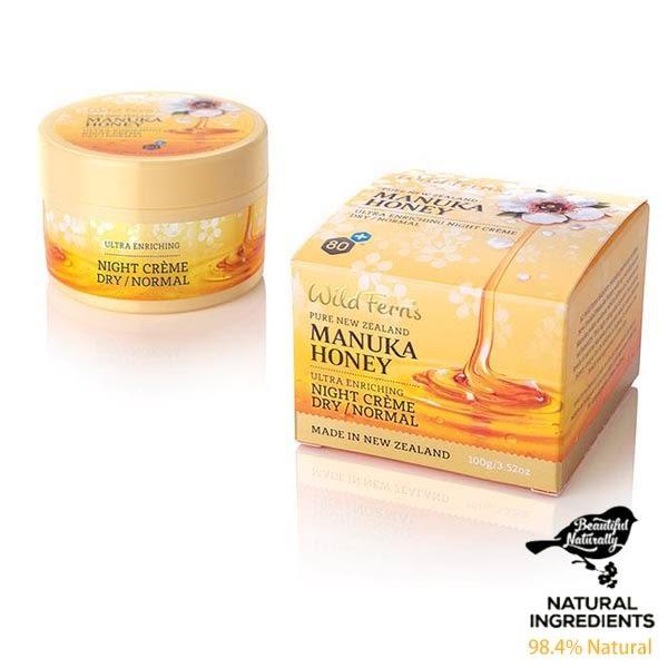 麥蘆卡蜂蜜平衡修護晚霜100ml 中性肌至油性肌膚適用 Wild Ferns