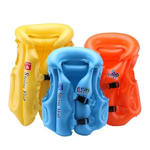 兒童救生衣游泳馬甲充氣男童女童寶寶充氣浮力衣背心初學游泳裝備