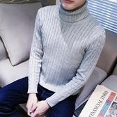 冬天韓版修身男土高領長領針織毛衣青年秋冬高齡長頸打底毛衫線衣 童趣