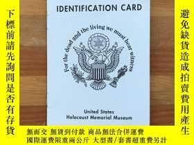 二手書博民逛書店美國大屠殺紀念博物館United罕見States Holocaust Memorial Museum二戰遇難者身份