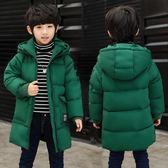 男童羽絨棉服新款冬裝兒童中長款棉衣中大童加厚棉襖男孩外套 QG14889『Bad boy時尚』